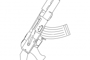 ak 47 assault rifle coloring pages