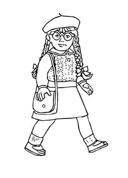 american girl grace thomas coloring pages | American Girl Coloring Pages - Worksheet School