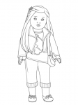 american girl isabelle doll coloring pages