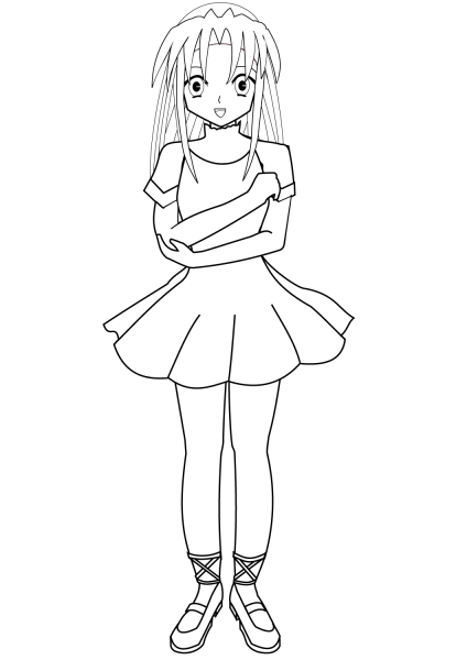 anime ballerina coloring page