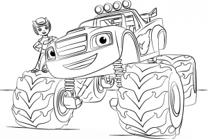 blaze monster truck coloring pages