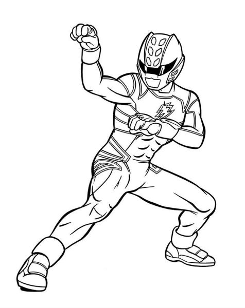 blue power rangers coloring pages
