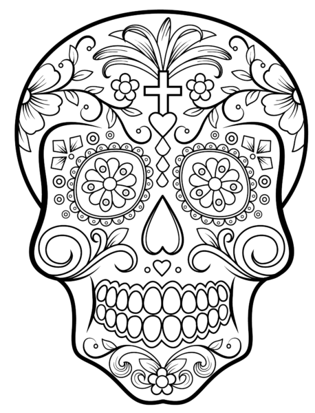 coloring pages for free sugar skull