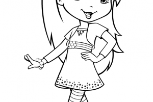 cute raspberry torte coloring page