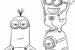 despicable me 3 minions coloring pages