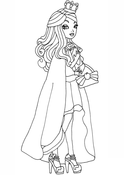 ever after high legacy day apple coloring pages