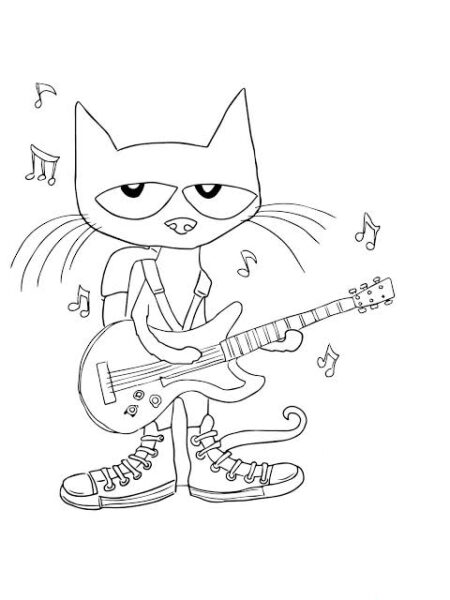 free printable coloring pages for pete and cat