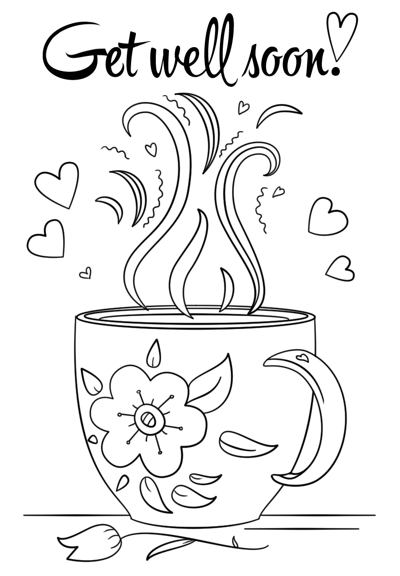 get well soon for free coloring pages