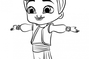 kaz from shimmer and shine coloring pages