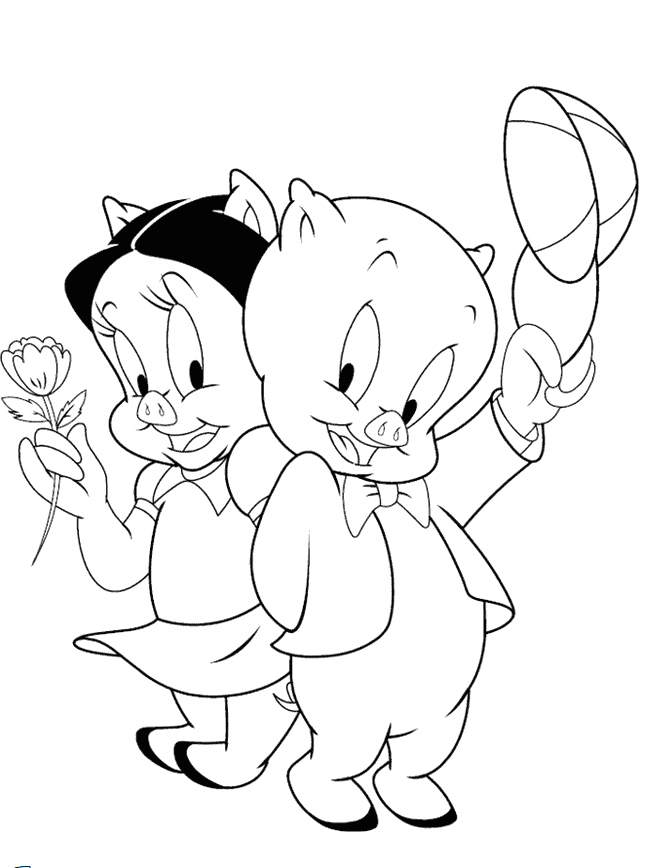 petunia and porky coloring pages