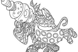 skylanders bubble blast coloring pages