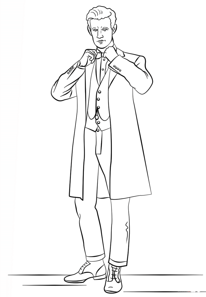 the eleventh doctor coloring pages