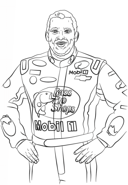 tony stewart coloring pages