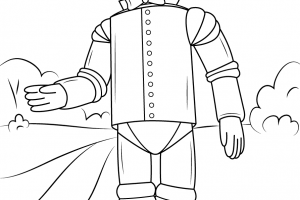 wizard of oz tin man coloring pages