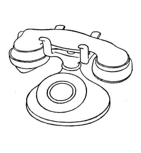 Telephone Coloring Pages 1