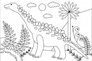 big titanosaur coloring pages