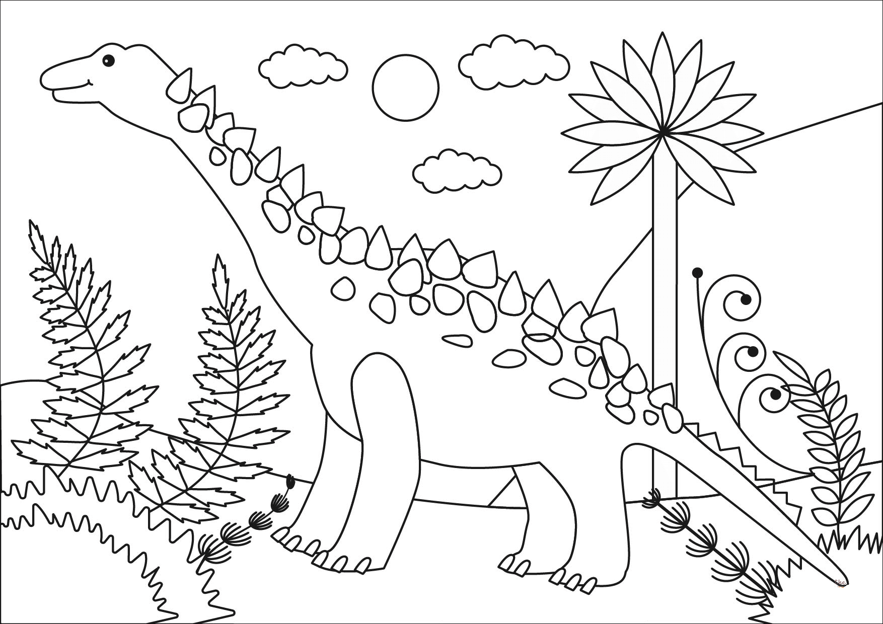 big titanosaur coloring pages