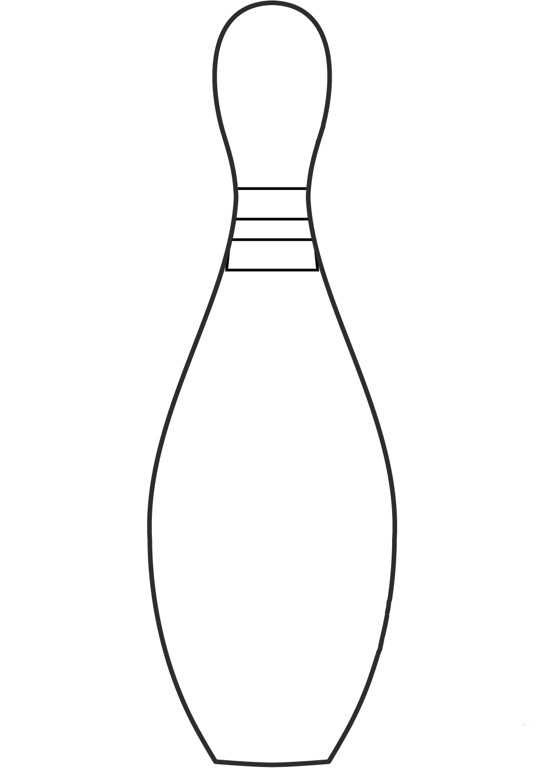 bowling pin for coloring pages