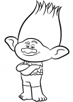 branch from trolls coloring pages