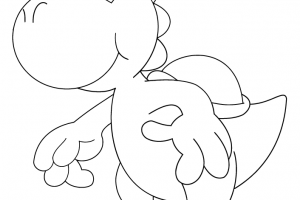 cartoon free yoshi coloring pages