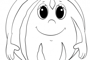 cartoon watermelon character coloring pages