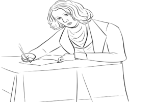 Famous Writers and Poets Coloring Pages