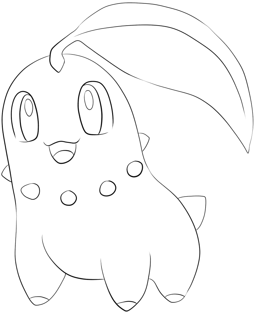 chikorita coloring pages