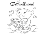 cute get well soon coloring pages