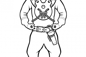 diving suit coloring pages