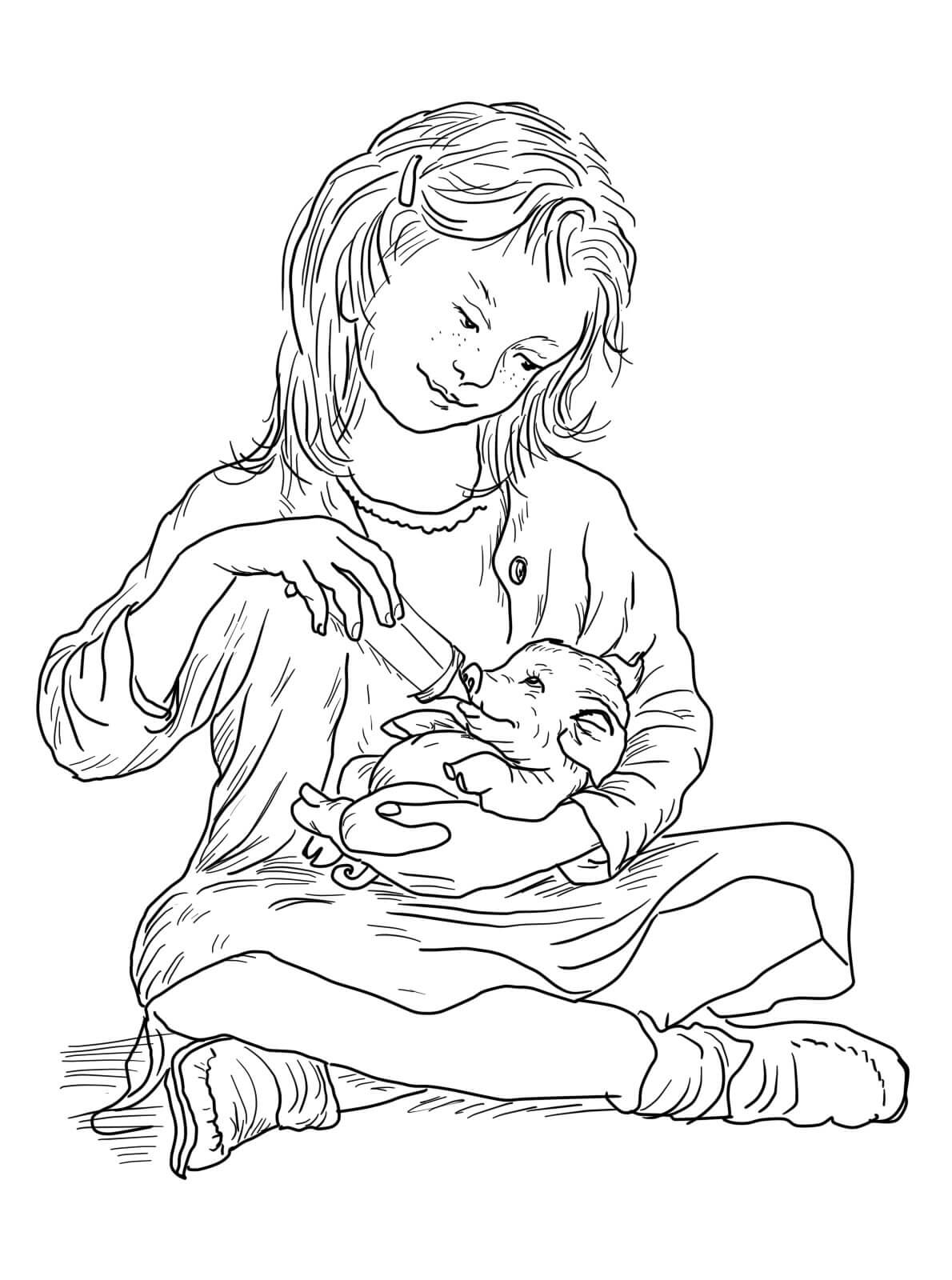 fern feeding wilbur coloring pages