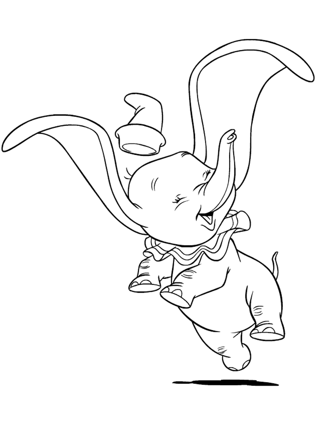 happy dumbo coloring pages