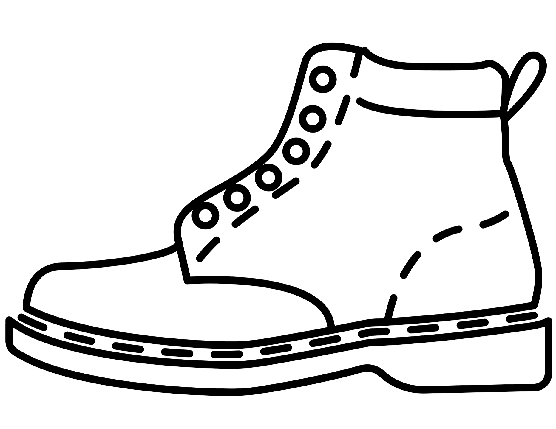 leather shoe coloring pages