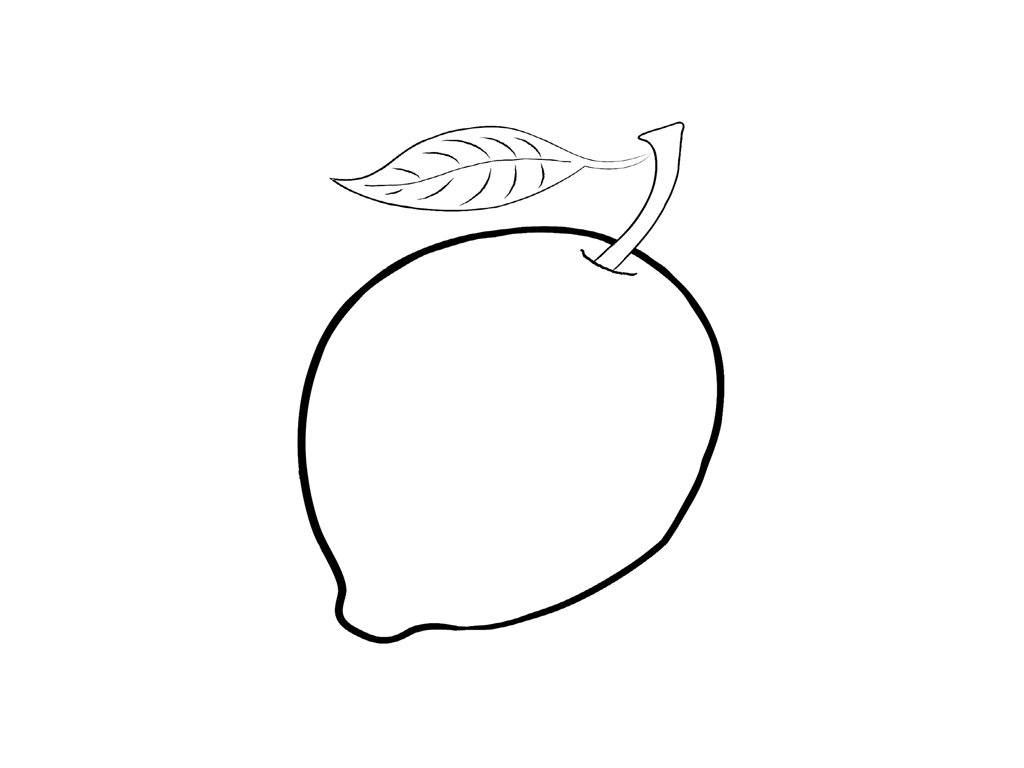 lemon coloring pages