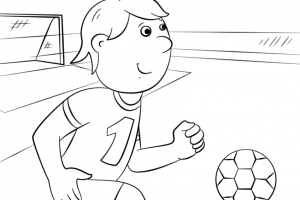 letter f is for cute football coloring pages