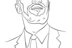 malcolm x coloring pages