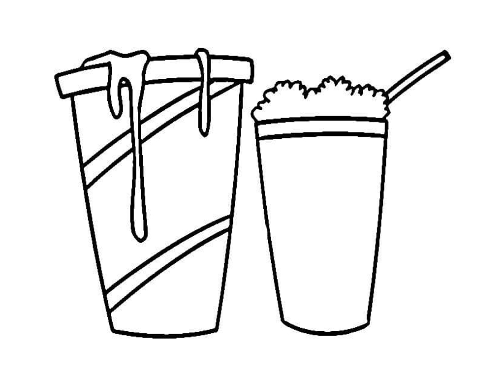 milkshake coloring pages