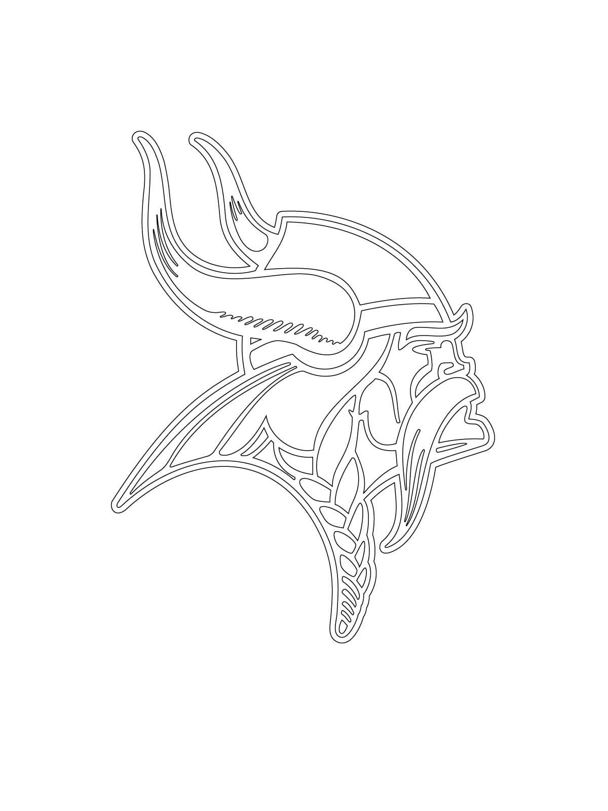 minnesota vikings logo coloring pages