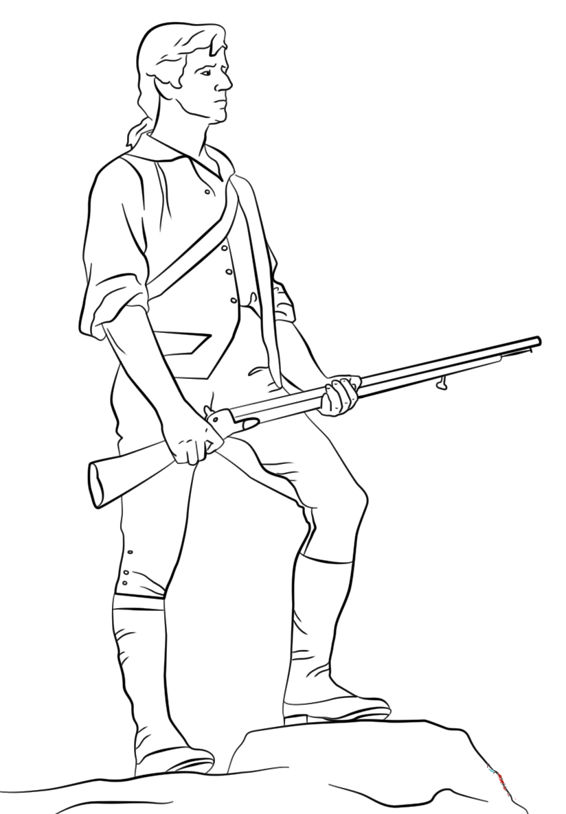 minutemen coloring pages