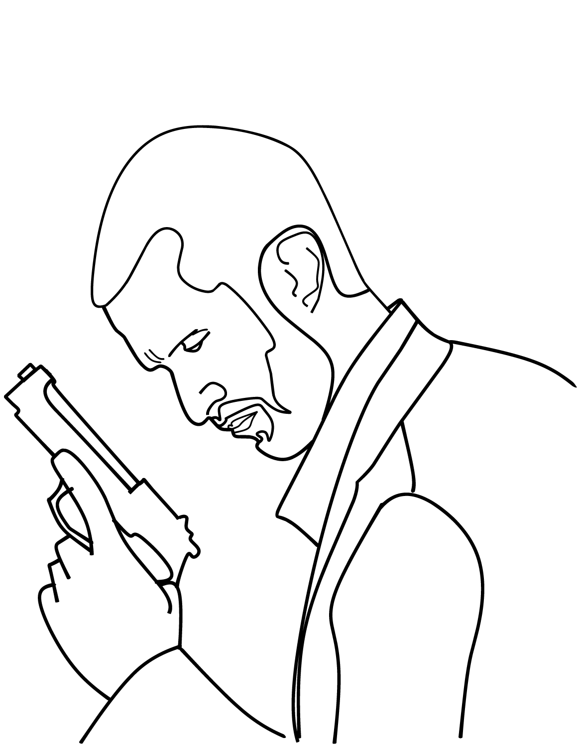 police detective coloring pages