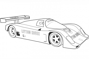 porsche free coloring pages