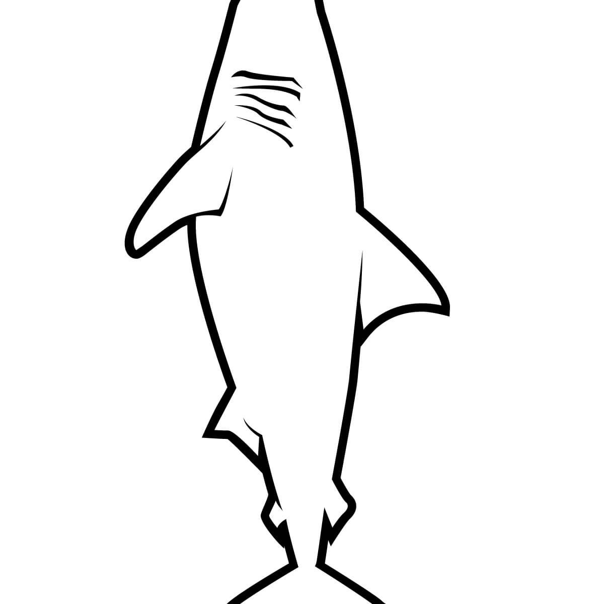 realistic great white shark coloring pages