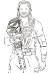 roman reigns coloring pages
