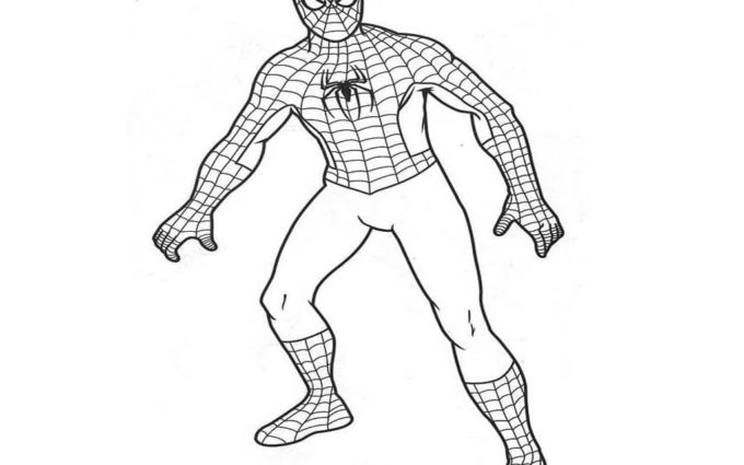 super spiderman coloring pages