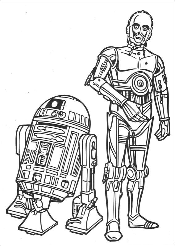 the robots coloring pages
