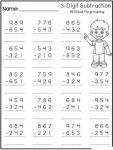 3 Digit Subtraction Worksheets 4