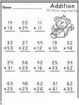 2-Digit Addition Worksheets 4