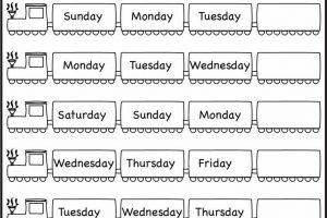 Days of Week Worksheets 5