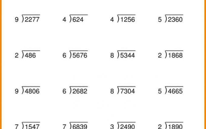 4 Digit Division Worksheets 2