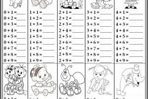 Addition Worksheets Small Numbers 5