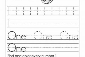Number Words Tracing Worksheets 6